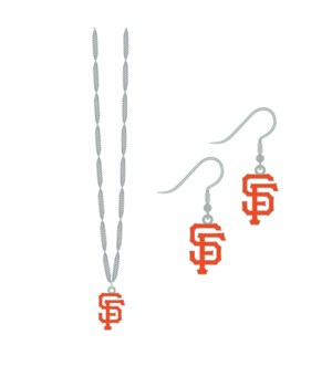 EARRING/NECK SET - SF GIANTS