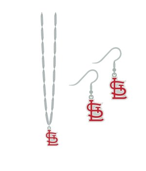 EARRING/NECK SET - ST LOUIS CARDINALS