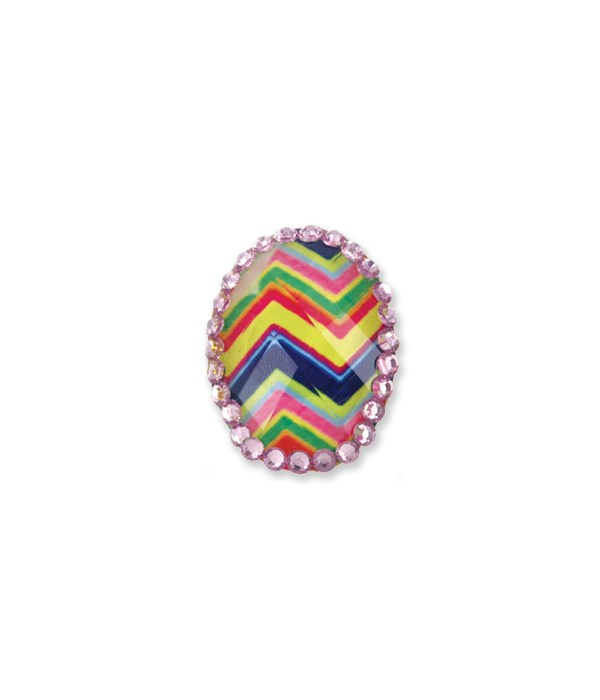 Adjustable Faceted Rings 24PC