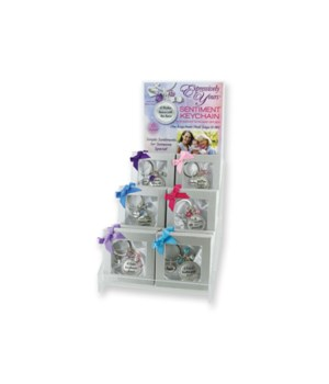 Expressively Yours Boxed Keychain 24PC D