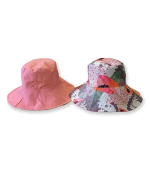 Pink Reversible Fashion Flips Hat 3PC