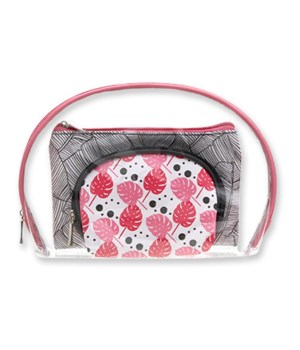 Pink 3 Piece Cosmetics Case Set - 3PC