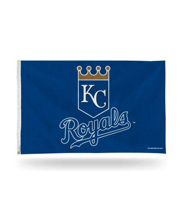 3X5 FLAG - KC ROYALS