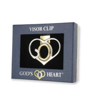 God's Heart Visor Clip 12PC /24P-D