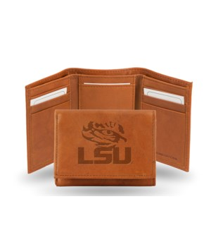 GEN LEATHER WALLET W/ GIFT TIN - LSU TIG