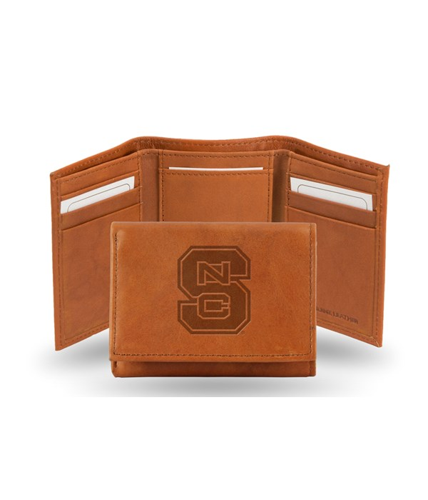 GEN LEATHER WALLET W/ GIFT TIN - NC STAT