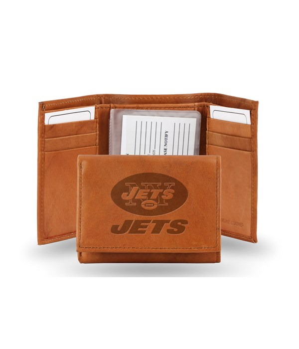 GEN LEATHER WALLET W/ GIFT TIN - NY JETS