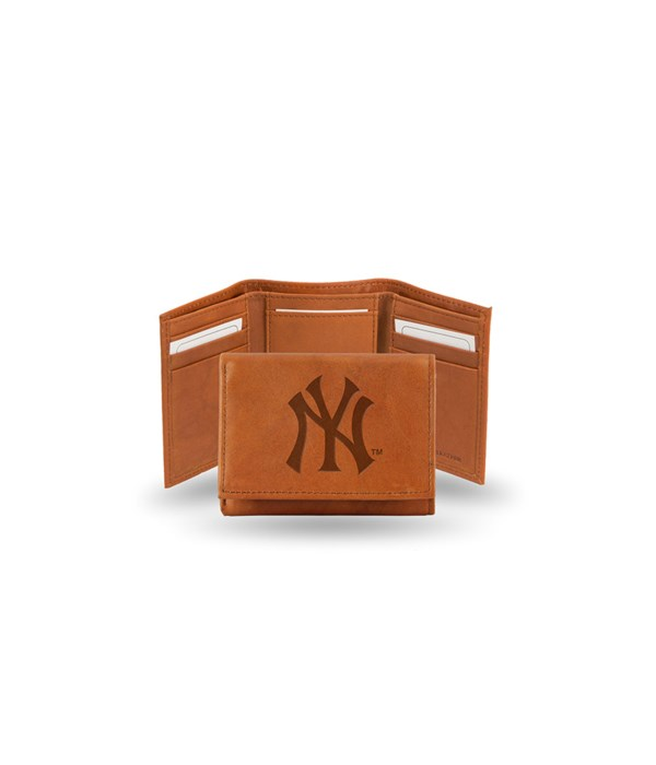 GEN LEATHER WALLET W/ GIFT TIN - NY YANK