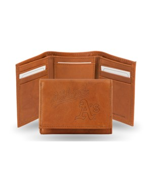 GEN LEATHER WALLET W/ GIFT TIN - OAK A'S