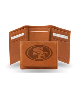 GEN LEATHER WALLET W/ GIFT TIN - SF 49ER