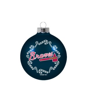 GLASS ORNAMENT - ATL BRAVES