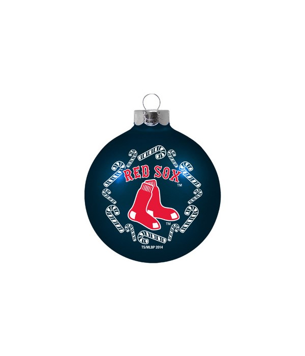 GLASS ORNAMENT - BOS RED SOX