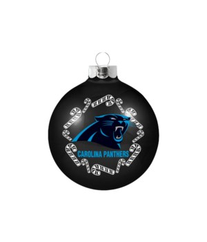 GLASS ORNAMENT - CAR PANTHERS
