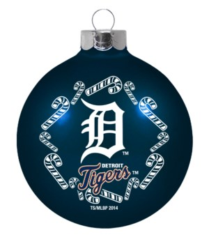 GLASS ORNAMENT - DET TIGERS