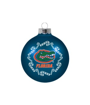 GLASS ORNAMENT - FLORIDA GATORS