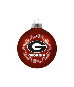 GLASS ORNAMENT - GA BULLDOGS