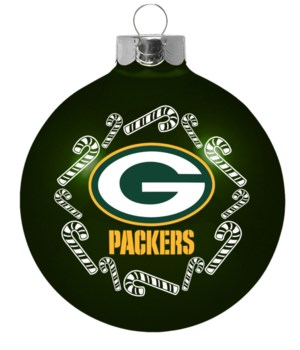 GLASS ORNAMENT - GREEN BAY PACKERS