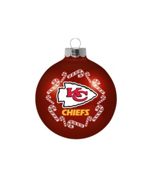 GLASS ORNAMENT - KC CHIEFS
