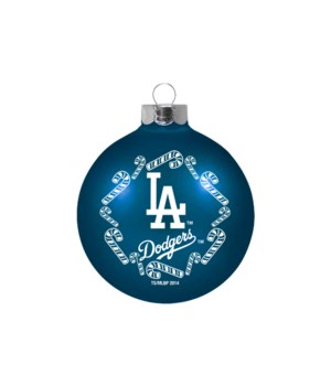GLASS ORNAMENT - LA DODGERS