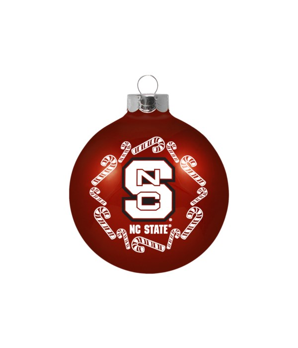 GLASS ORNAMENT - NC STATE WOLFPACK