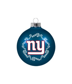 GLASS ORNAMENT - NY GIANTS