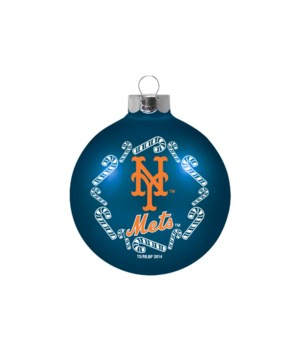 GLASS ORNAMENT - NY METS