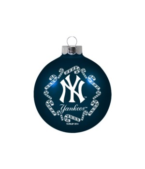 GLASS ORNAMENT - NY YANKEES
