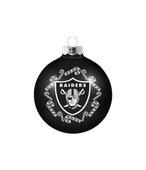 GLASS ORNAMENT - OAK RAIDERS