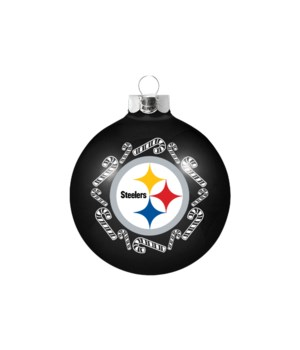 GLASS ORNAMENT - PITT STEELERS