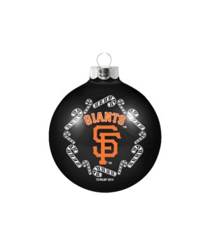 GLASS ORNAMENT - SF GIANTS