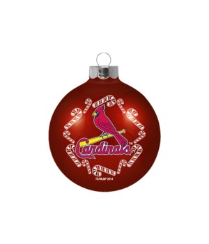GLASS ORNAMENT - ST LOUIS CARDINALS