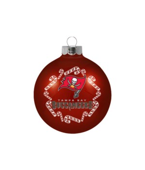 GLASS ORNAMENT - TAMPA BAY BUCS