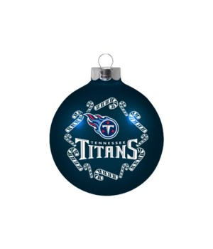 GLASS ORNAMENT - TENN TITANS