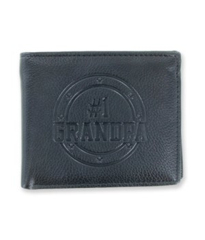 #1 Grandpa Duluxe Bilfold Wallet 12PC