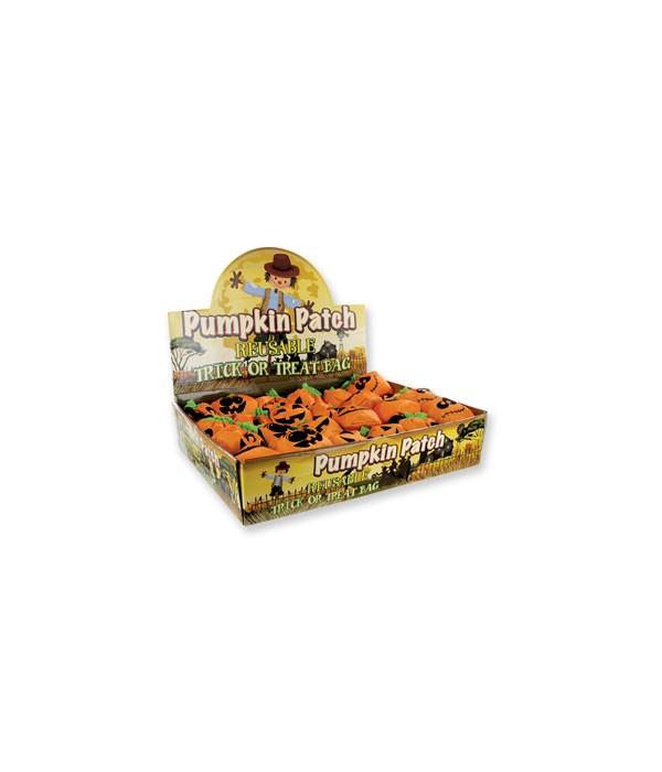 Foldable Pumpkin Trick or Treat Bag 24PC