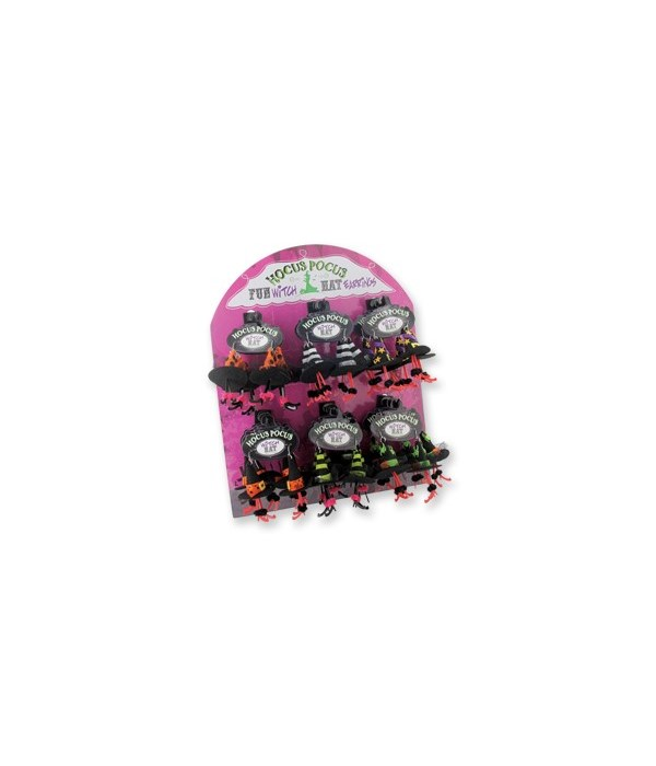 Hocus Pocus Witch Hat Earings 24Pc