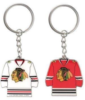HOME/AWAY KEY CHAIN - CHIC BLACKHAWKS