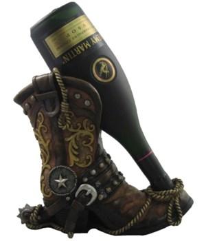"9.75"" Cowboy Boot Wine Holder 6PC"