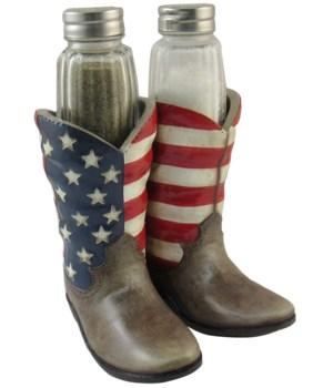 USA Boot Salt & Pepper Holder