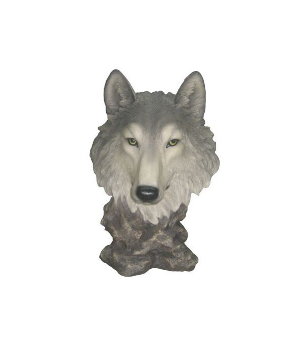 """H16.5"""" Wolf Bust 1PC"""