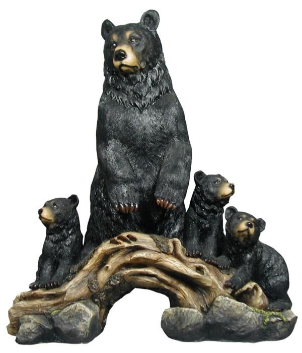"17.25"" Vigilance (Bear w/Cubs) 1PC"