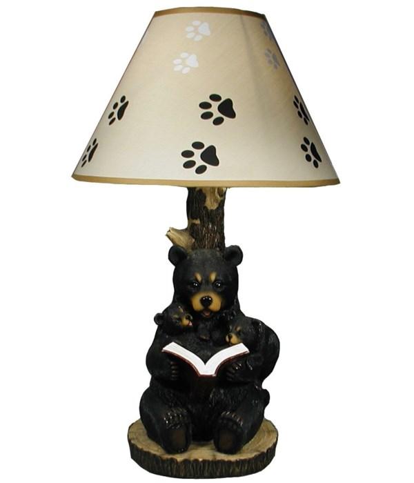 """Reading Bear Lamp 20"""""""