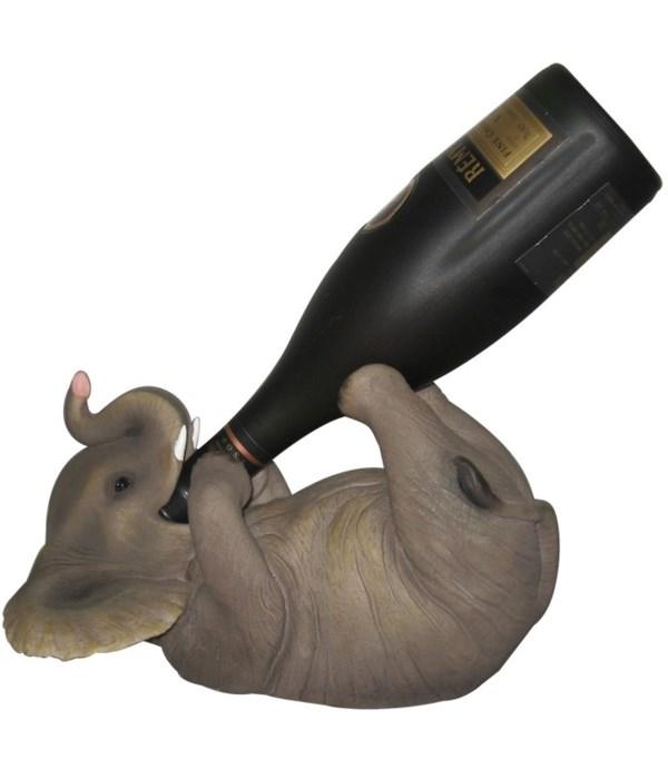 """10.5"""" Elephant Wine Holder 6PC"""