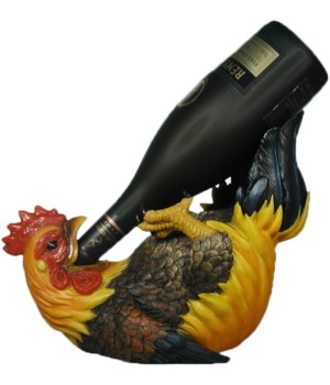 "L11"" Rooster Wine Holder 6PC"
