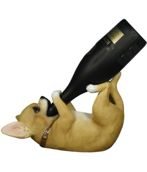 "L11.5"" Chihuahua Wine Holder on Back 6PC"