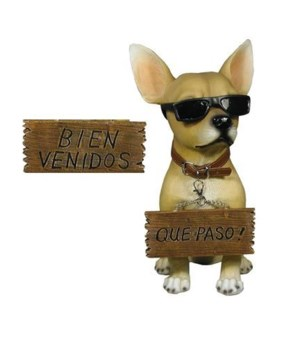 "13"" Chihuahua w/ Sign 4PC"