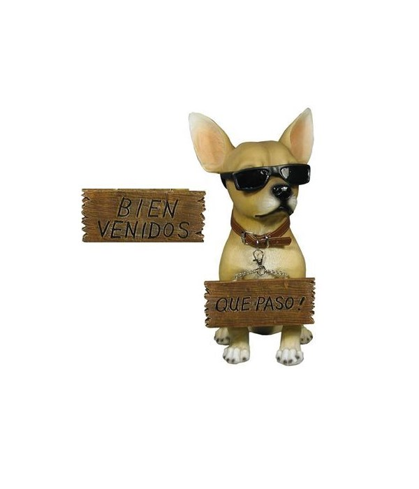 """13"""" Chihuahua w/ Sign 4PC"""
