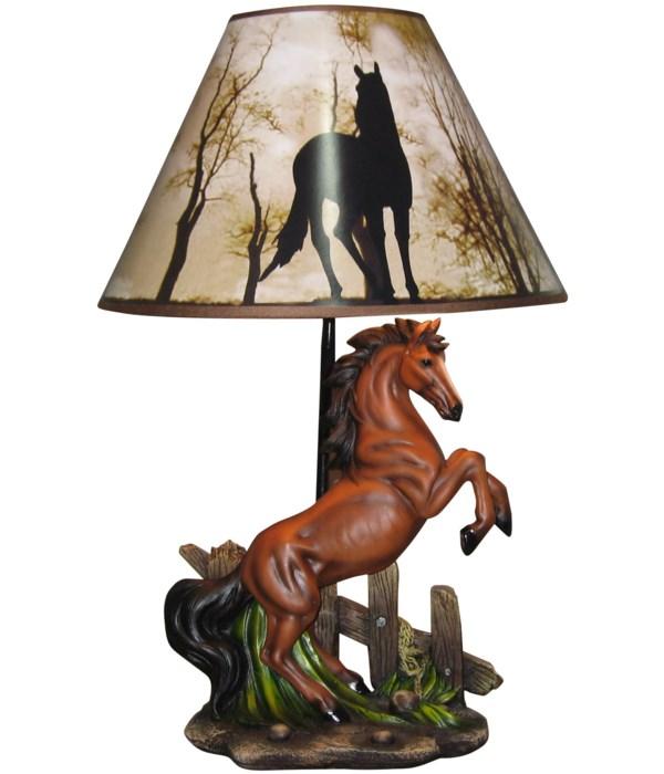 "20"" Stallions (Rearing Horse Lamp)"