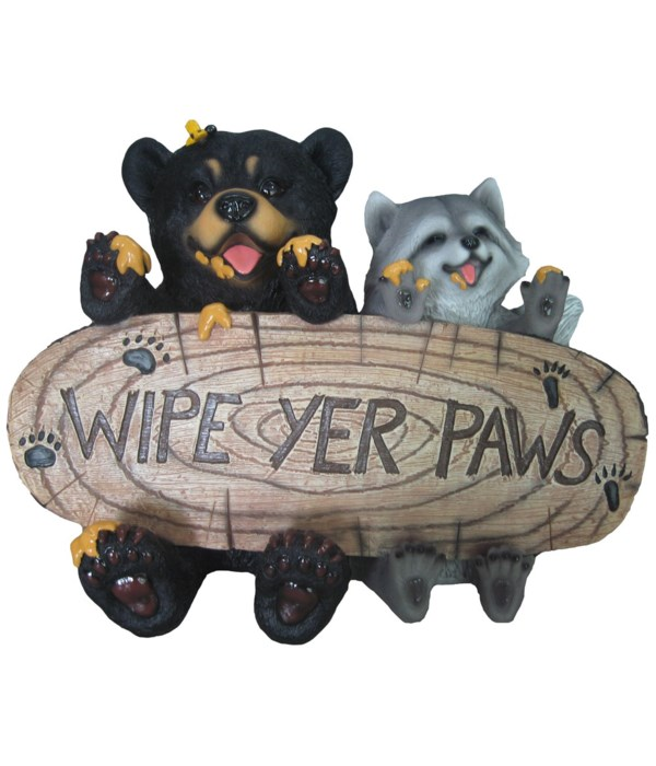 "L14.4"" Wipe Paw Bear/Raccoon 1PC"