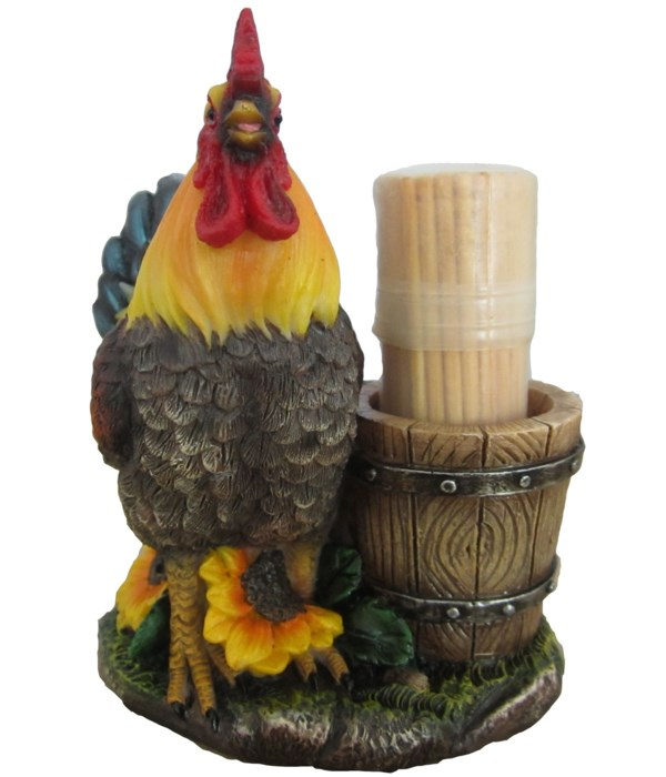 """H4"""" Rooster Toothpick Holder 24PC"""